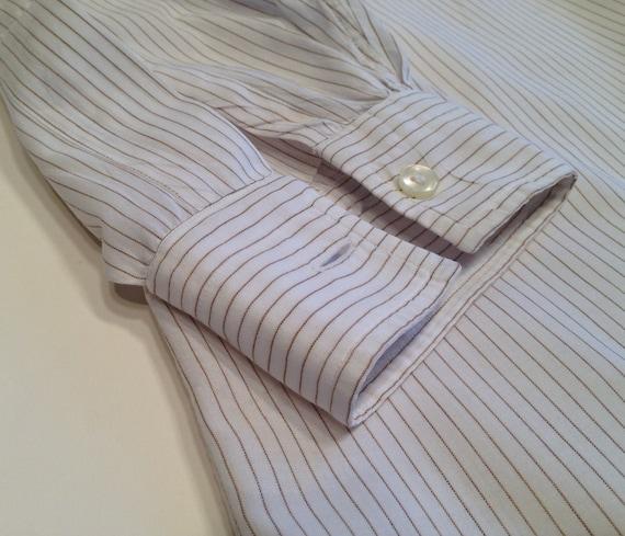 Vintage 1960's Pinstriped Dress Shirt / Crisp Sum… - image 5