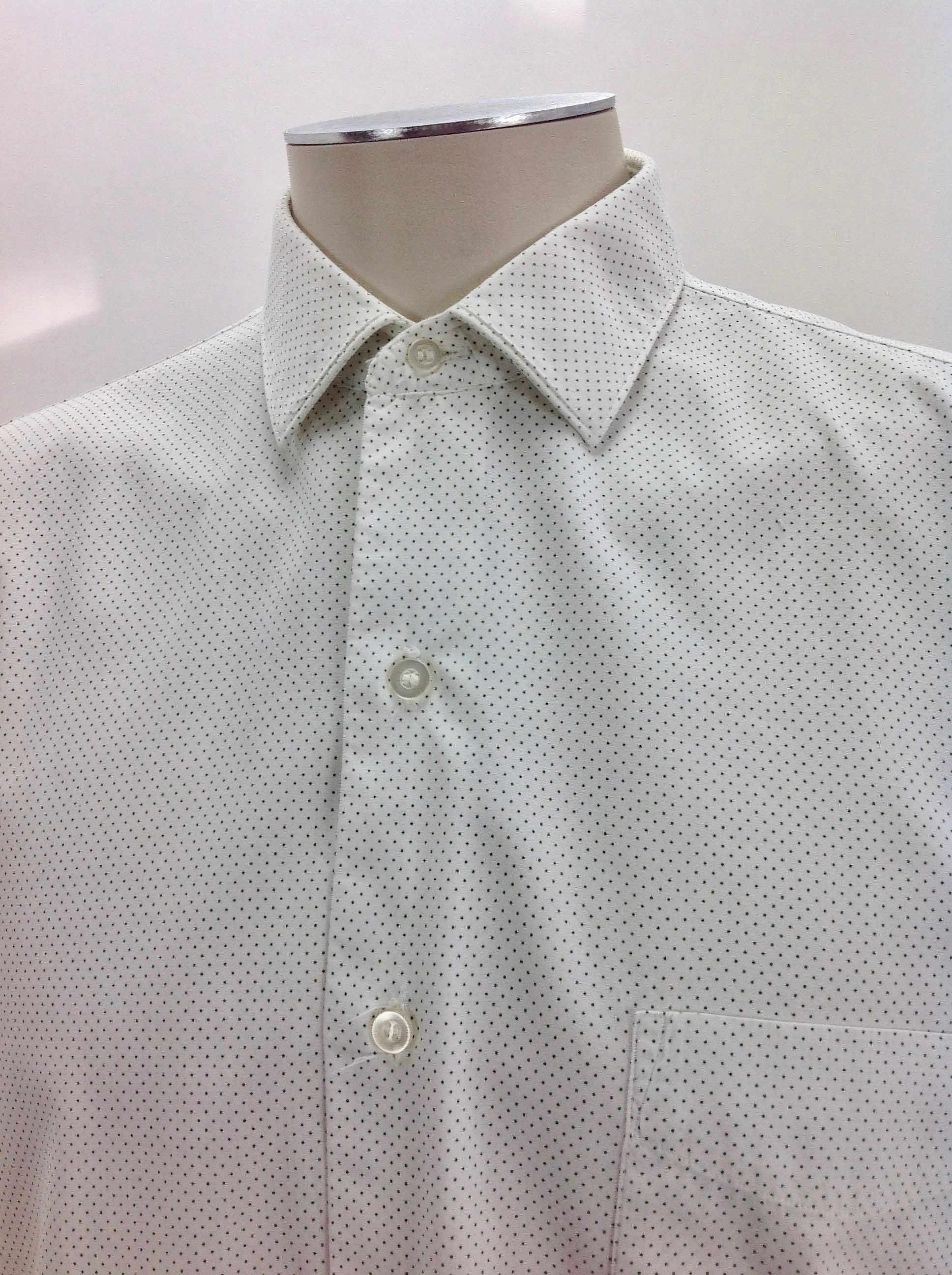 1960s – 70s Men's Ties | Skinny Ties, Slim Ties Vintage 1960s Dress Shirt - French Cuffs Excellent Quality Crisp Medium Weight Cotton Mens Size $110.00 AT vintagedancer.com