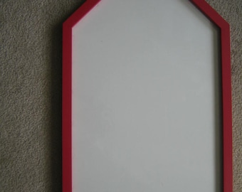 Red Schoolhouse Wooden Frame