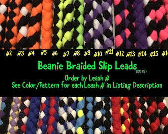 SLIP LEAD ~ Fleece Braided Dog Leash   Flashy, Durable & Strong   Soft on your hands and dogs mouth! (2019)