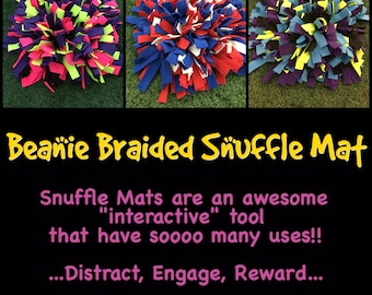 """SNUFFLE MAT - Small 10"""" x 10"""" x 3.5"""" (6"""" sq rubber) Interactive Dog Puzzle Dog Treat Puzzle   Sniff & Search   Nose Work   Small Snuffle Mat"""