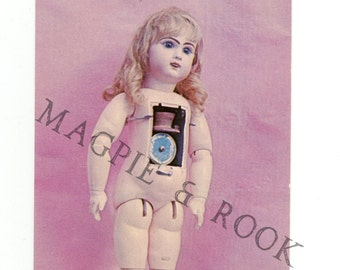 Jumeau Phonograph Doll Vintage Postcard - McCully House Doll Museum