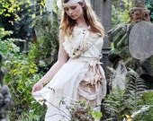 Steampunk Woodland Skirt with Tie-on Bustle Trail (Melody) Custom Size