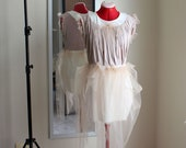 Nude Tulle & Modal Cotton Day Dress xs, s, m, l, xl Made-to-Order