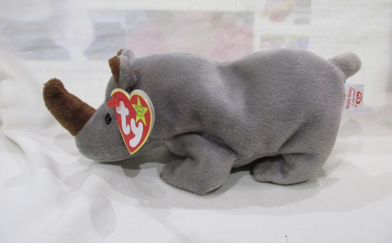 3e7a5d00f90 SPIKE The Rhinoceros. Ty Original Beanie Baby Collection.