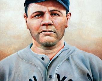 """Babe Ruth Art Print—""""Ruth"""""""