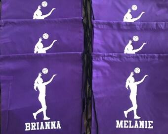 Volley Ball Team Sports Drawstring Bag Snacks Gameday Favors Etc