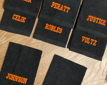 Embroidered Personalized Sports Rally Towels Perfect for Sports Gifts Football | Soccer| Basketball | Volleyball | Baseball