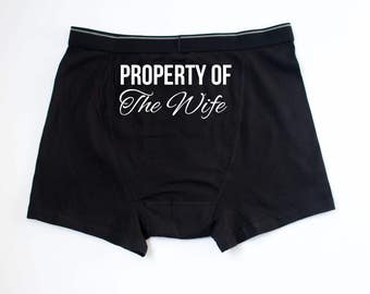Property Of The Wife Boxers // Property Of The Wife Underwear // Husband Boxers // Husband Underwear // Husband Gift // Groom Gift