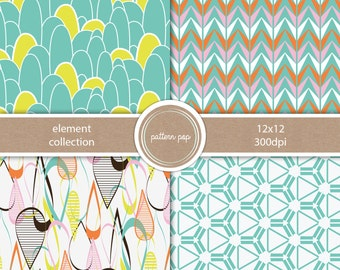 Modern Digital Scrapbooking Paper and Backgrounds