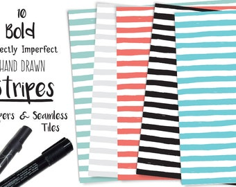 Bold Stripes Digital Papers - Scrapbooking, Background
