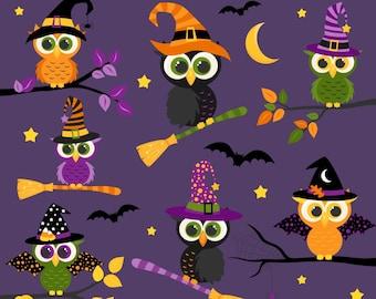 Halloween Clipart, Halloween Owls, Owl Clipart, Fall, Printable, Commercial Use