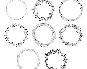 wreath clipart etsy rh etsy com wreath clip art black and white free wreath clip art free black and white