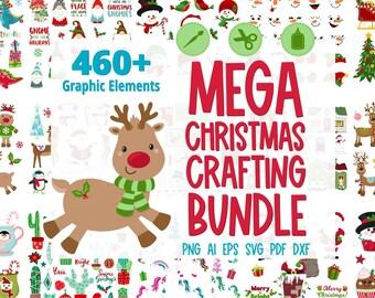 Mega Christmas Crafting Bundle, Christmas Clipart Bundle, Christmas SVG Bundle, Big SVG Bundle, #BN212