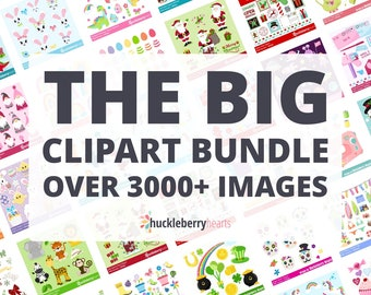 Clipart Bundle, Printable, Small Commercial Use