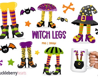 Halloween Clipart, Witch Legs Clipart, Witch Clipart, Halloween, Printable, Commercial Use, #CP668