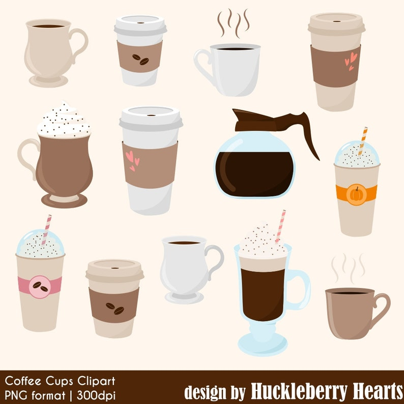 8ac450b2 Coffee Clipart Digital Coffee Coffee Cups Coffee Mugs | Etsy