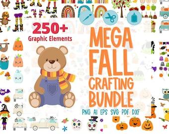 Mega Fall Crafting Bundle, Fall Clipart Bundle, Fall SVG Bundle, Big SVG Bundle, #BN214
