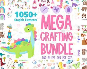 Mega Crafting Bundle, Clipart Bundle, SVG Bundle, Big SVG Bundle, #BN210