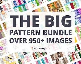 Digital Pattern Bundle, Digital Patterns, Seamless Pattern Bundle, Printable, Small Commercial Use