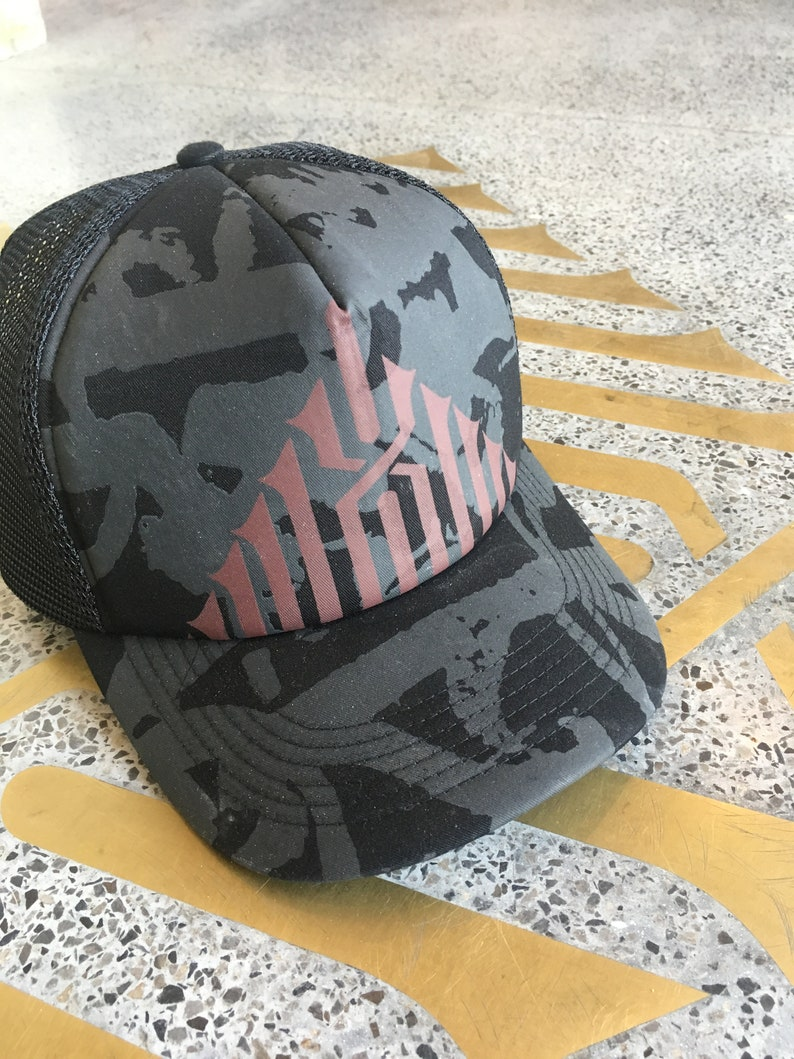 ccffe67745516 Black Trucker Cap Hip Hop Hipster Hat Baseball Caps For