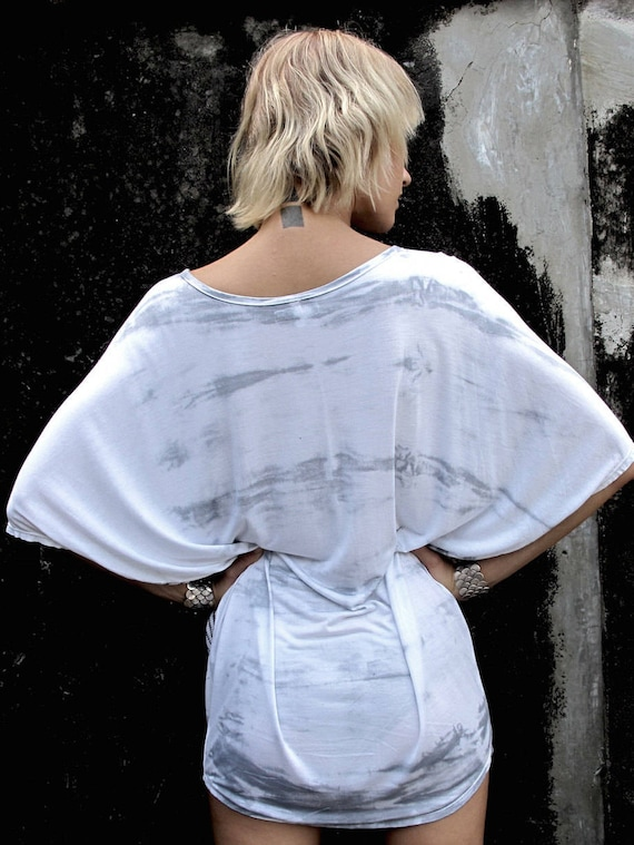 Tunic Tribal Sexy Woman's Shoulder mini Blouse Boho Summer Women's Oversize Top Printed Loose Top Women dress White Top Off Tunic Dress pxaYUw4