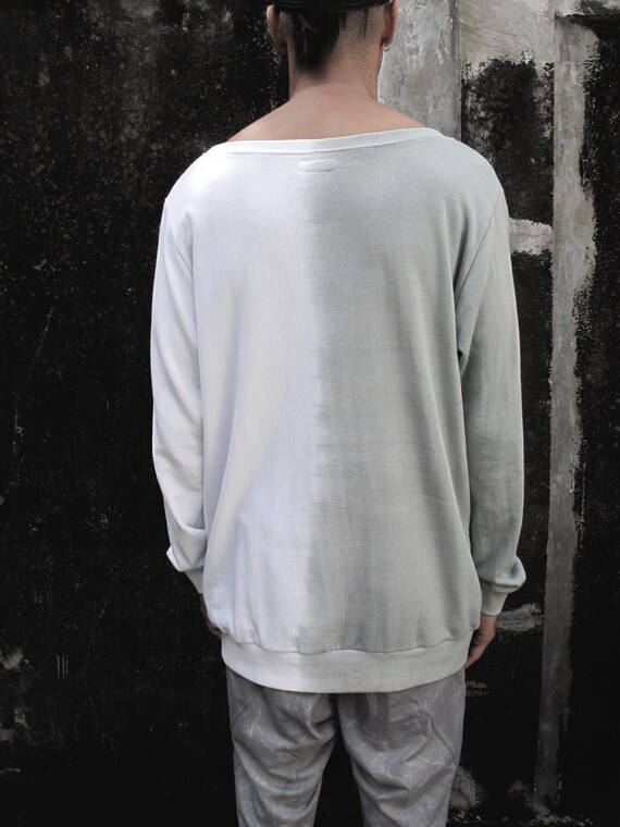Chic light wear T Jumper jumper festival White Urban Print Long Man Pockets with Man's Long Shirt sleeves Grey shirt men's Man's Burning vWnX8Z1