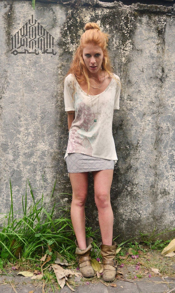 White Top Boho Blouse Shirt Top Shirt Woman's Shirt Slouchy Boho Loose White Fit Loose Fashion Batwing Top Oversized Woman Top Boho 1Tqptp