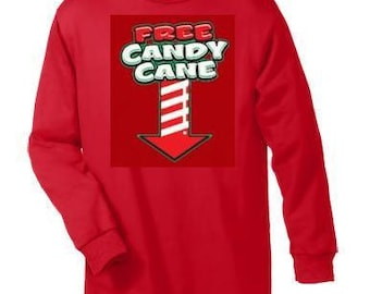 T-shirts:free candy cane arrow Long sleeved shirt  Cool Funny long-sleeved T Shirt design sleeves