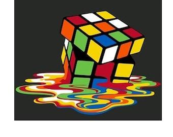 melting puzzle cube t-shirt
