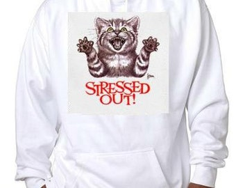 stressed out cat  kitten hoodie sweater shirt hoody t-shirts hoodies cats