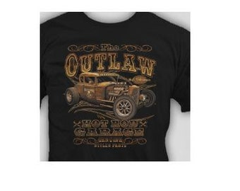 Unisex T-Shirt the out law hot rod garage genuine stolen parts cool  tee T shirt