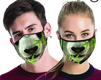 panda FACE MASK , match Face MASK couple | Matching Couples Face masks - 2 pcs