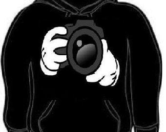 Hoodie cartoons hands i shoot people camera funny hoodies sweatshirt unisex adults hand cartoon