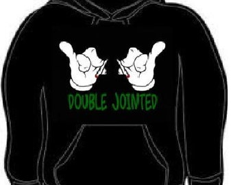 Hoodie: double jointed cartoon hands Hooded Sweatshirts hoodies shirt clothes cool funny