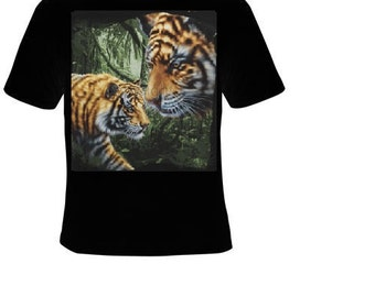 tigers in jungle animal zoo T-shirts cool tshirt tiger teez
