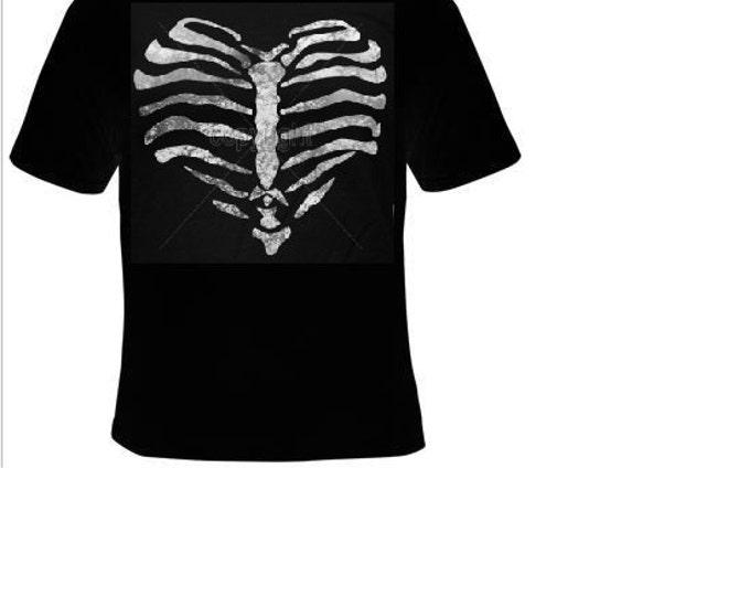 TShirts: heart bones ribs T-shirts cool funny t shirt  bone love hearts design rib