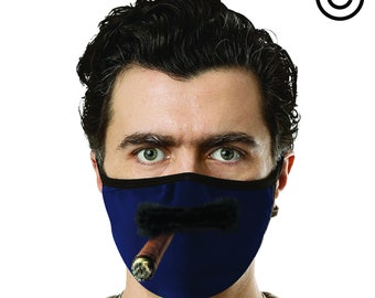 COOL MUSTACHE CIGAR Mask - Face mask cover