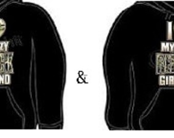 Hoodie: i love my crazy redneck girlfriend boyfriend couples hoodies sweatshirt unisex cool lovely couple set gift