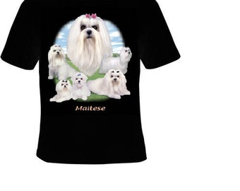 maltese dog cute pets animal cool funny  T-shirts dogs puppies dogs teez