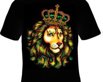 Cool Gift Unisex T-Shirt: lion the king of jungle CROWN tee T shirt Animal