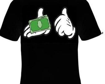 pay me money cards t-shirt cartoon style hands  fingers  cartoons hands finger logo