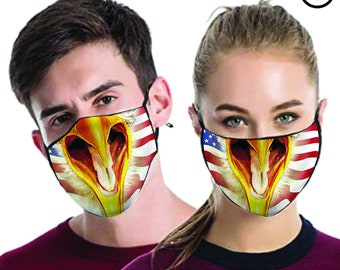 eagle FACE MASK , match Face MASK couple | Matching Couples Face masks - 2 pcs