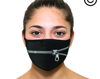funny zipper Masks - Face mask cover your face