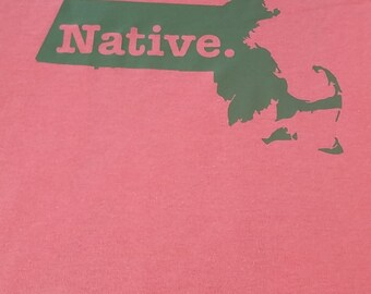 state t shirt natives home t shirt massachussets native usa state t-shirt T shirts cool tee