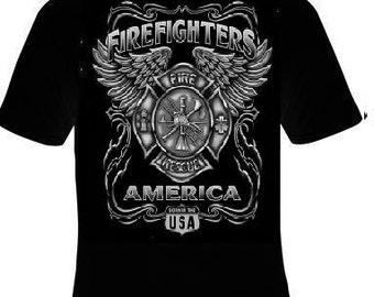 Tshirts: firefighter usa  T Shirts Tees, Tee T-Shirt design cool funny  tee shirt rescue fireman