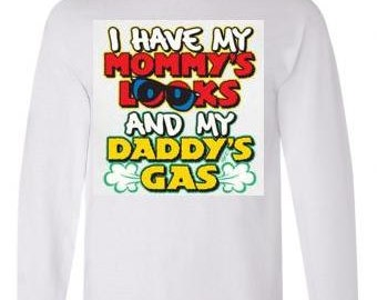 Tshirts:father daddys gas f@rts Long sleeved shirts Cool Funny long-sleeved T Shirt graphic design sleeves