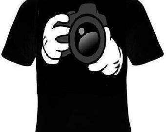 Tshirts: i shoot people Tshirt cartoon hands i-shoot people Tshirts clothes T Shirts Tees, Tee T-Shirt design cool funny hand camera shots