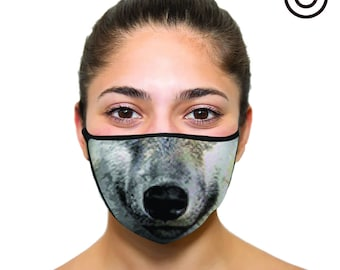 cute wolf Mask - Face mask cover your face