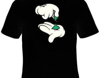 cartoons hands  t shirt